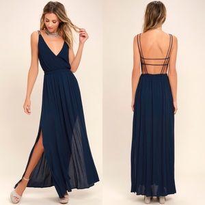 NWT Lulu's Lost in Paradise Maxi Dress